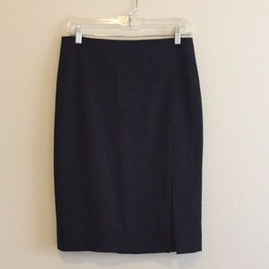 Theory Classic Pencil Skirt with Front Slit